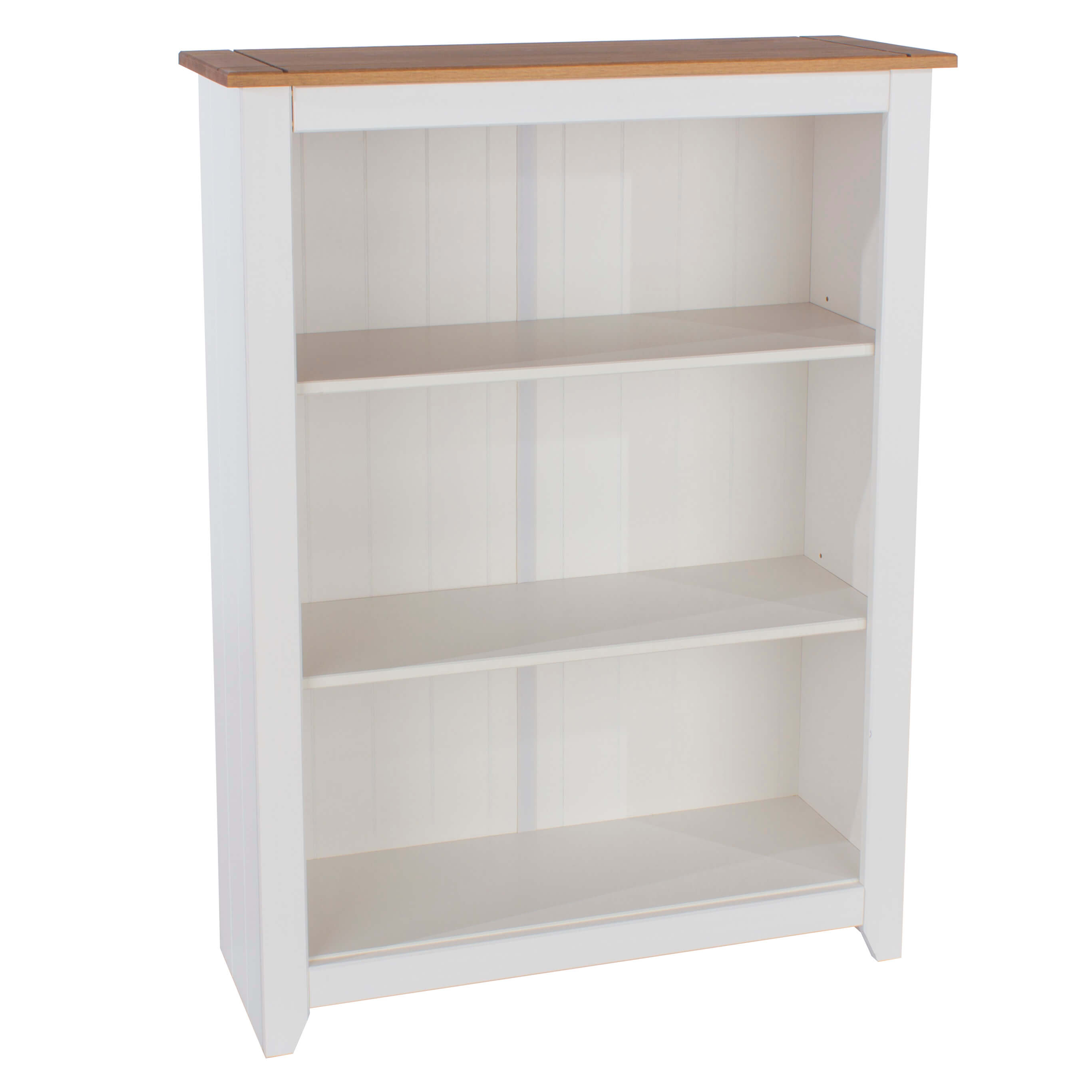 Marina White Waxed Low Bookcase Cp712